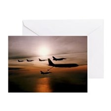 F-16 Falcons Refueling Greeting Card