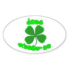 Don't Pinch Me Oval Sticker (50 pk)
