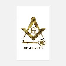 St. John #58 Rectangle Decal
