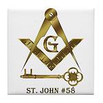 St. John #58 Tile Coaster