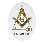 St. John #58 Oval Ornament