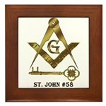 St. John #58 Framed Tile