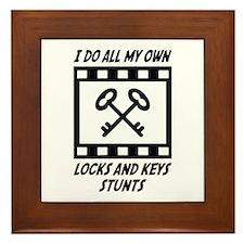Locks and Keys Stunts Framed Tile