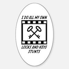 Locks and Keys Stunts Oval Decal