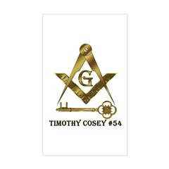 Timothy Cosey #54 Rectangle Decal