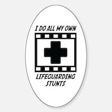 Lifeguarding Stunts Oval Decal