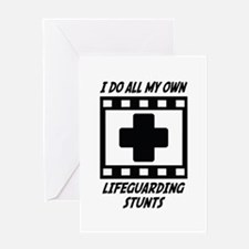 Lifeguarding Stunts Greeting Card