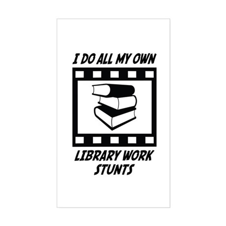 Library Work Stunts Rectangle Sticker
