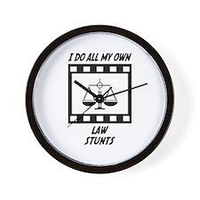 Law Stunts Wall Clock