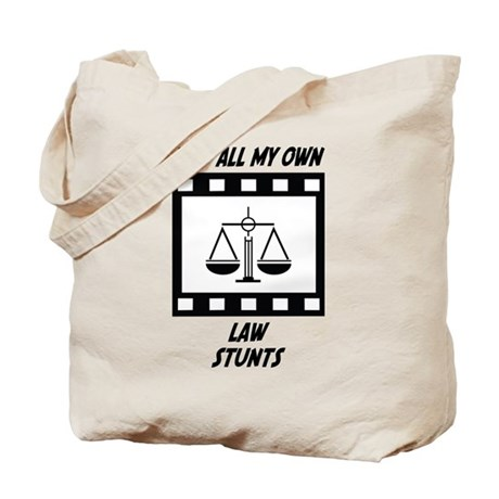 Law Stunts Tote Bag