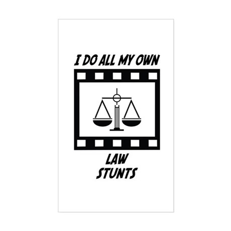 Law Stunts Rectangle Sticker