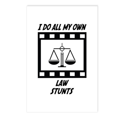 Law Stunts Postcards (Package of 8)