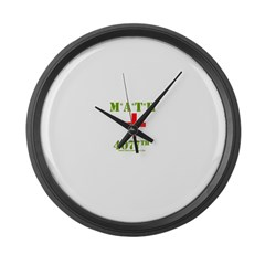 Math 4077 T Large Wall Clock