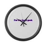 I'm The Head Geek T Large Wall Clock
