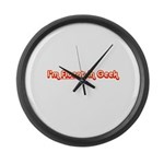 I'm Fluent In Geek Large Wall Clock