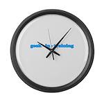 Geek In Training Large Wall Clock