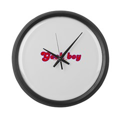 Geek Boy T Large Wall Clock
