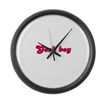 Geek Boy Large Wall Clock
