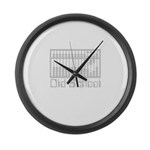 Old School T Large Wall Clock