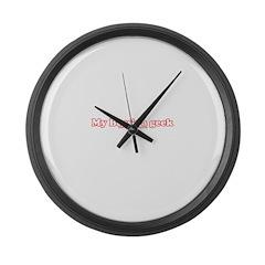 My Boss's A Geek Large Wall Clock