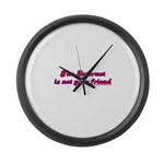 The Internet Is Not Your Frie Large Wall Clock