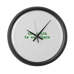 The Truth Is Out There T Large Wall Clock