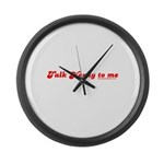 Talky Nerdy To Me T Large Wall Clock