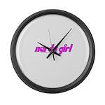 Nerdy Girl Large Wall Clock