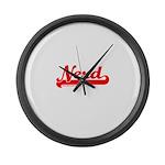 Softball Nerd T Large Wall Clock