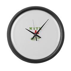 Math 4077th Large Wall Clock