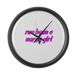 I've Been A Nerdy Girl T Large Wall Clock