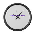 I'm The Head Nerd Large Wall Clock