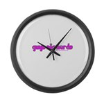 Guys Dig Nerds T Large Wall Clock