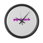 Guys Dig Nerds Large Wall Clock