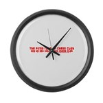 1st Rule of Chess Club T Large Wall Clock