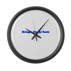 Bringin Nerdy Back Large Wall Clock
