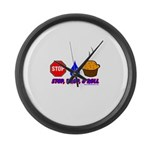 Stop Drop And Roll Large Wall Clock