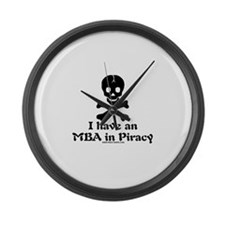 MBA In Piracy Large Wall Clock