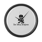 In Like Flynn Large Wall Clock