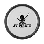 JV Pirate Large Wall Clock