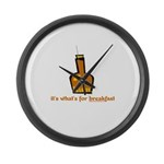 Rum For Breakfast Large Wall Clock
