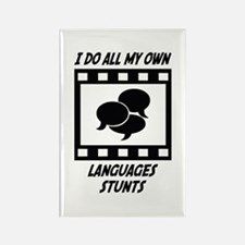 Languages Stunts Rectangle Magnet