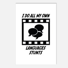 Languages Stunts Postcards (Package of 8)