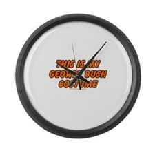 This Is My George Bush Costum Large Wall Clock