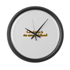 Dark Christmas Is Too Commerc Large Wall Clock