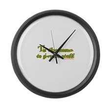 Tis The Season To Give Me Stu Large Wall Clock