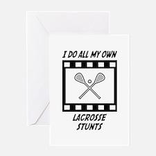 Lacrosse Stunts Greeting Card