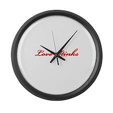 Love Stinks Tran Large Wall Clock