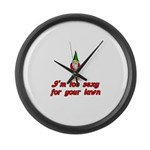 I'm Too Sexy For Your Lawn Large Wall Clock