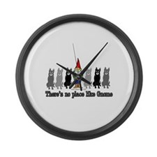 There's No Place Like Gnome Large Wall Clock